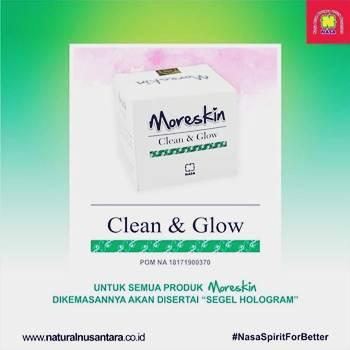 GLOW MORESKIN CLEAN & GLOW CREAM - www.herb.co.id